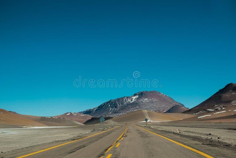 Δρόμος σε Atacama στοκ φωτογραφίες