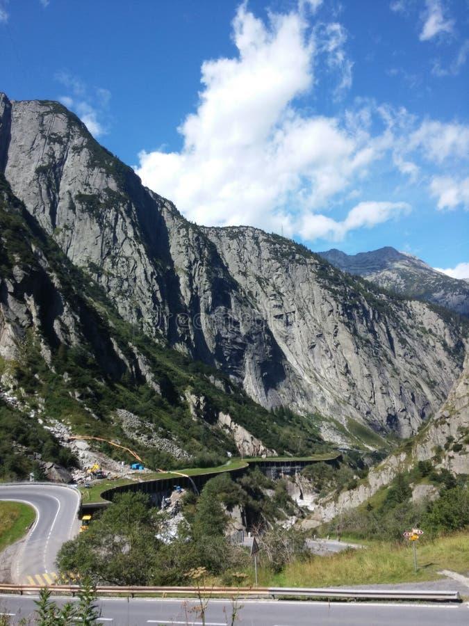 Δρόμος σε Gotthard στοκ φωτογραφία με δικαίωμα ελεύθερης χρήσης