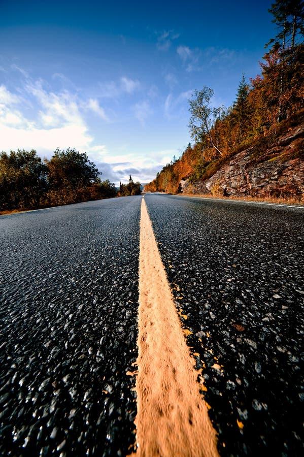 δρόμος Σκανδιναβός στοκ φωτογραφία