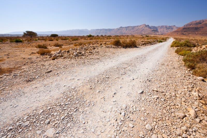 Δρόμος στην έρημο στοκ φωτογραφίες με δικαίωμα ελεύθερης χρήσης