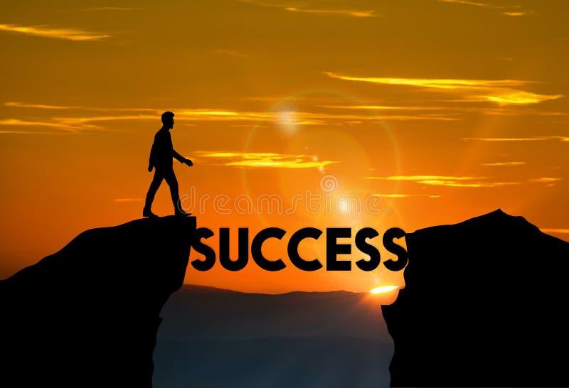 Δρόμος στην επιτυχία, κίνητρο, φιλοδοξία, επιχειρησιακή έννοια στοκ εικόνα