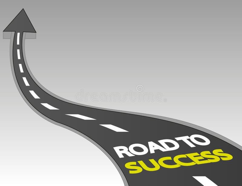 Δρόμος στην επιτυχία με το επάνω βέλος ελεύθερη απεικόνιση δικαιώματος