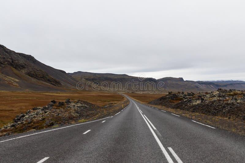 Δρόμος στην Ισλανδία στοκ εικόνα