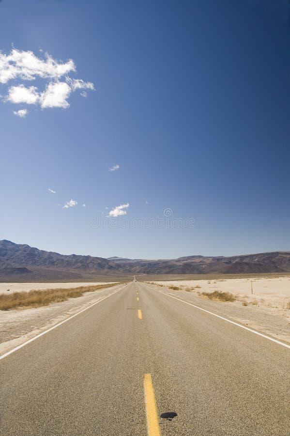 Δρόμος στην κοιλάδα θανάτου στοκ φωτογραφία