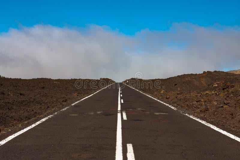 Δρόμος στην παγωμένη λάβα στοκ φωτογραφίες με δικαίωμα ελεύθερης χρήσης