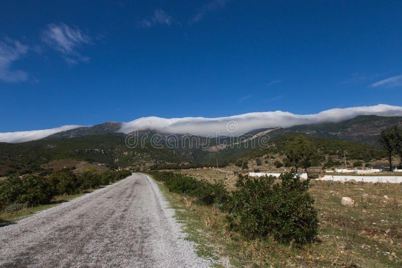Δρόμος στον ουρανό στοκ φωτογραφίες με δικαίωμα ελεύθερης χρήσης
