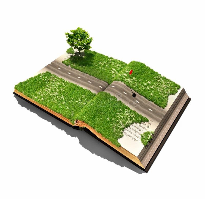 Δρόμος στο βιβλίο ελεύθερη απεικόνιση δικαιώματος