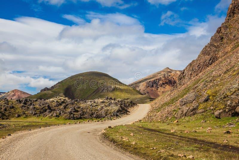 Δρόμος στο εθνικό πάρκο Lanmannalaugar στοκ εικόνα