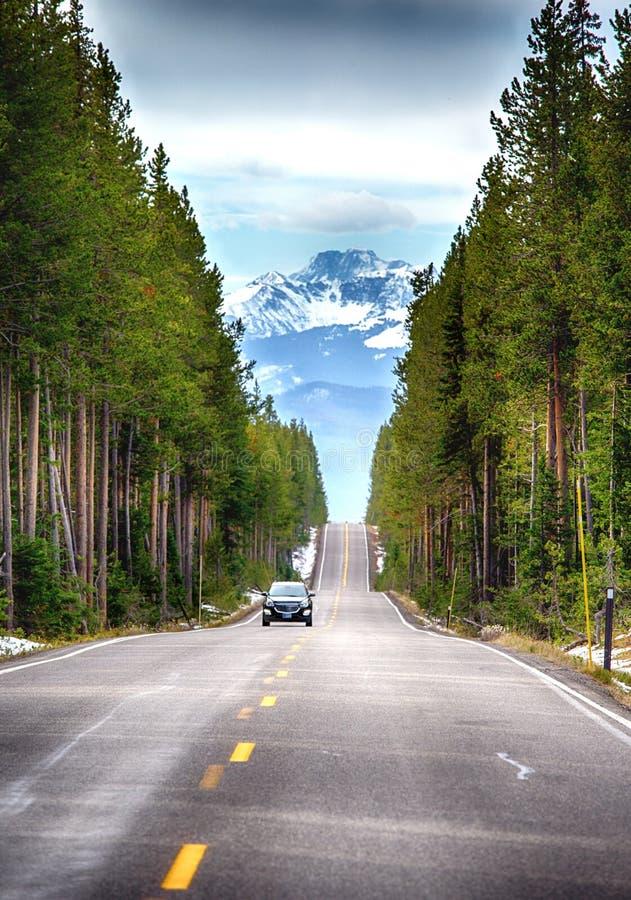 Δρόμος στο εθνικό πάρκο Tetons στοκ εικόνα