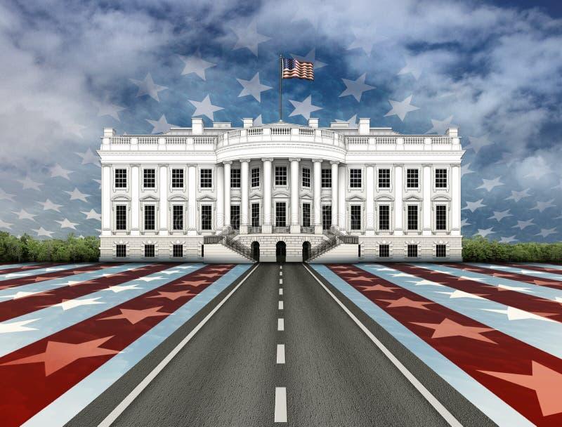 Δρόμος στο Λευκό Οίκο απεικόνιση αποθεμάτων