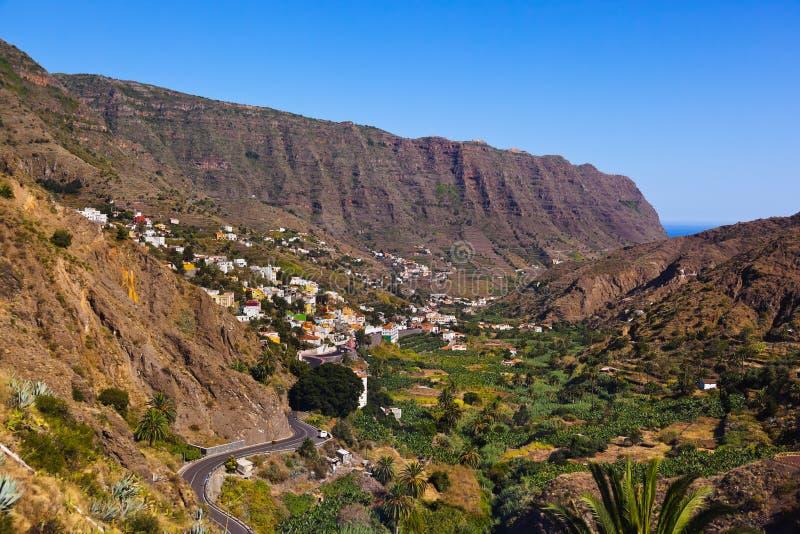 Δρόμος στο νησί Λα Gomera - καναρίνι στοκ εικόνες με δικαίωμα ελεύθερης χρήσης