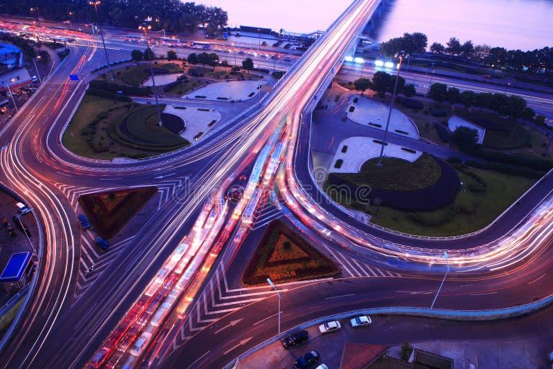 δρόμος συνδέσεων βραδιού στοκ φωτογραφία με δικαίωμα ελεύθερης χρήσης