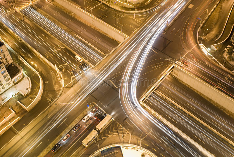δρόμος συνδέσεων βραδι&omicron στοκ εικόνες