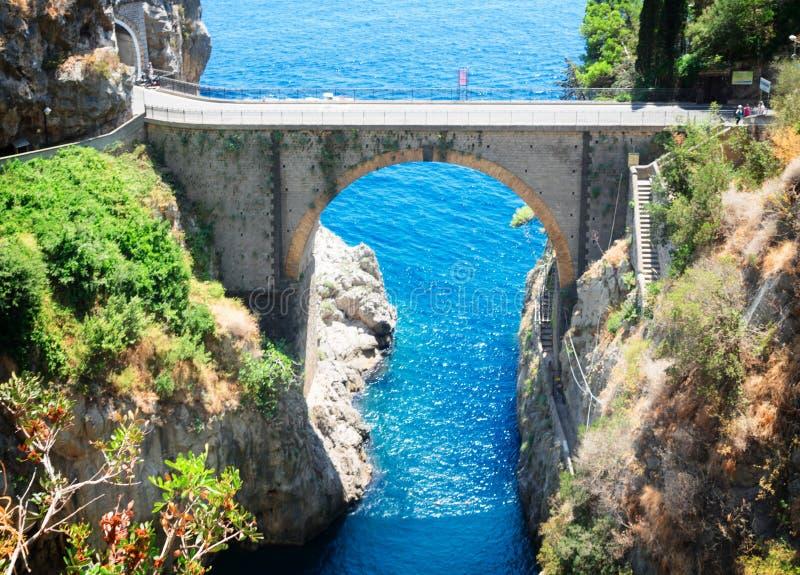 Δρόμος της ακτής της Αμάλφης, Ιταλία στοκ φωτογραφία