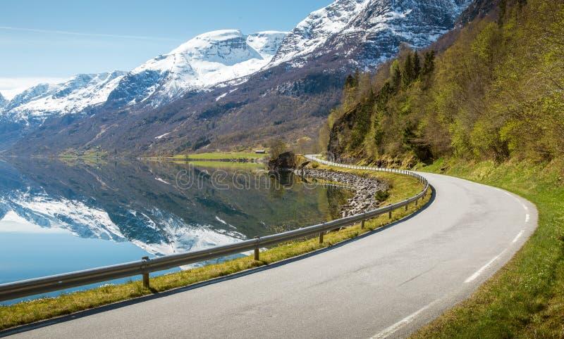 δρόμος της Νορβηγίας βο&upsilon στοκ φωτογραφίες
