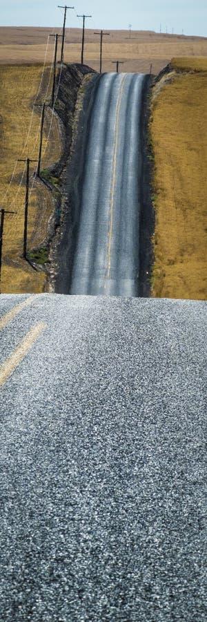 Δρόμος, τομείς σίτου, πολιτεία της Washington στοκ εικόνα