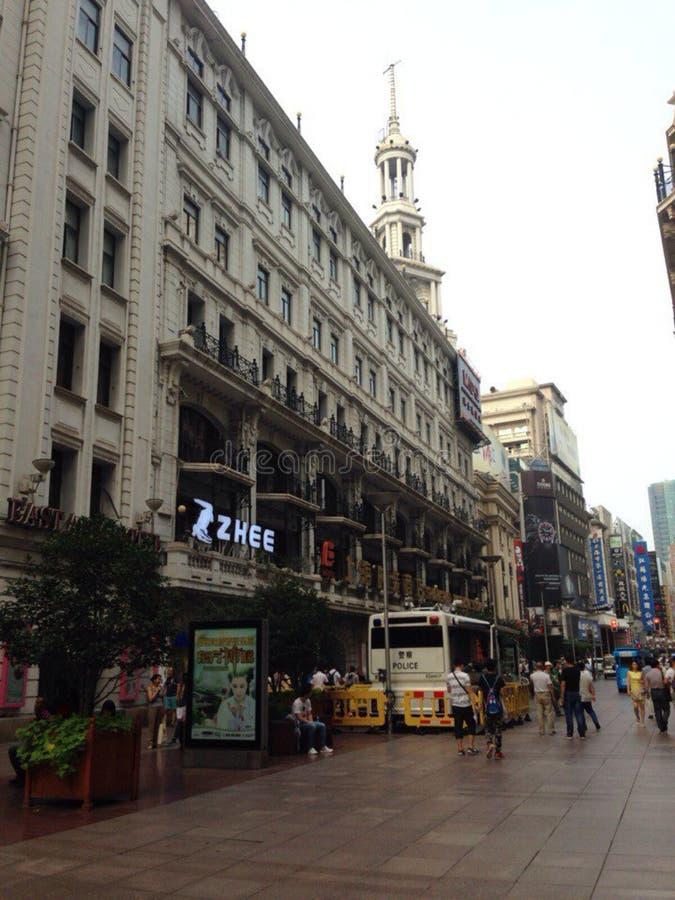 Δρόμος του Ναντζίνγκ σε Shangai στοκ φωτογραφία