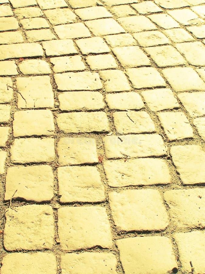 δρόμος τούβλου κίτρινος στοκ εικόνα με δικαίωμα ελεύθερης χρήσης