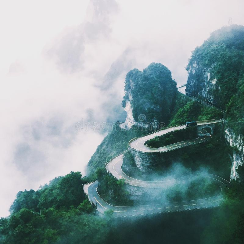 Δρόμος Panshan Zhangjiajie στοκ εικόνα
