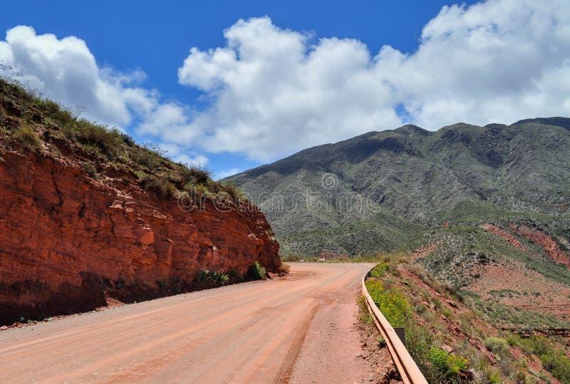 Δρόμος Ruta 40 Cuesta de Miranda Αργεντινοί στοκ φωτογραφίες