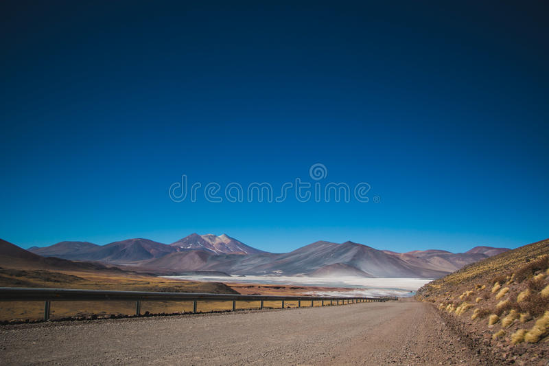 Δρόμος Salar de Talar Atacama στοκ εικόνες με δικαίωμα ελεύθερης χρήσης