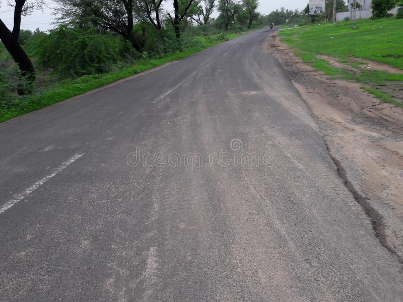 δρόμος vileage εικόνας σε Ινδό στοκ εικόνες