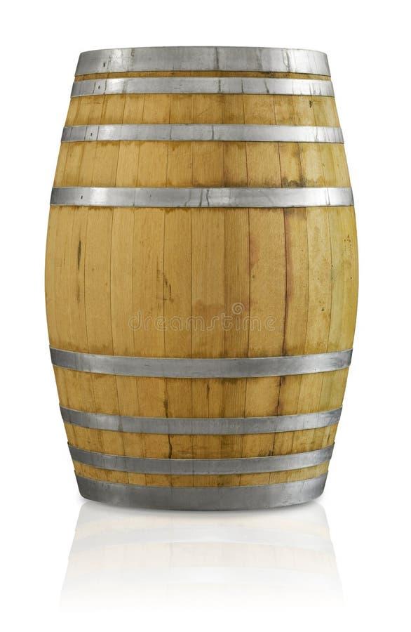 δρύινο κρασί βαρελιών στοκ εικόνα