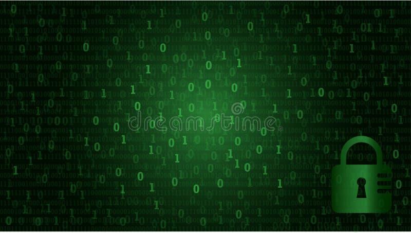 Δυαδικός κώδικας στοιχείων υπολογιστών μητρών στο καθιερώνον τη μόδα επίπεδο ύφος για το techno στοκ εικόνες με δικαίωμα ελεύθερης χρήσης