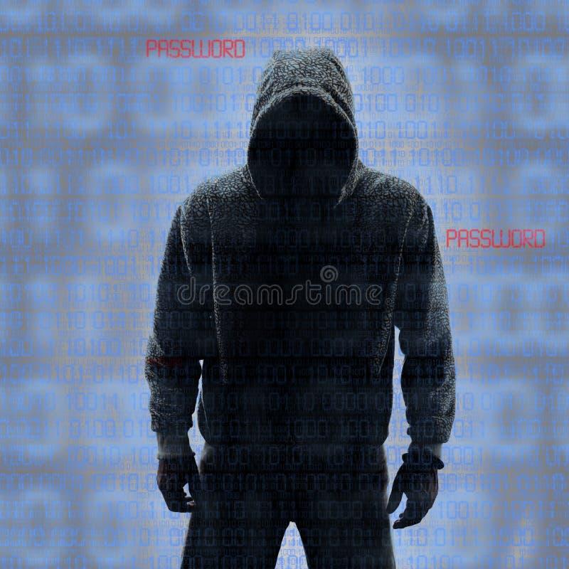 Δυαδικοί κώδικες με το χαραγμένο κωδικό πρόσβασης στοκ φωτογραφίες με δικαίωμα ελεύθερης χρήσης