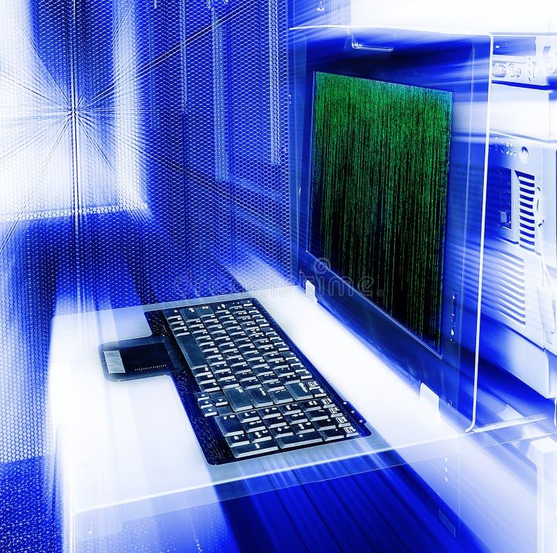 Δυαδικός κώδικας μητρών διοικητικών τελικός θαμπάδων κεντρικών υπολογιστών στοκ εικόνα με δικαίωμα ελεύθερης χρήσης