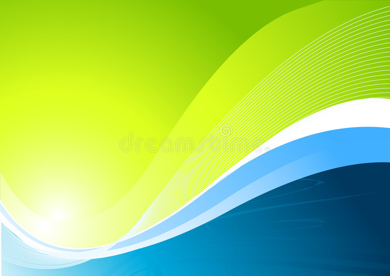 δυναμικός πράσινος ανασ&kappa διανυσματική απεικόνιση