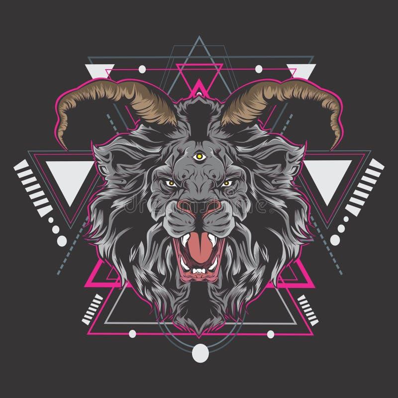 Δυνατός βασιλιάς λιονταριών ελεύθερη απεικόνιση δικαιώματος