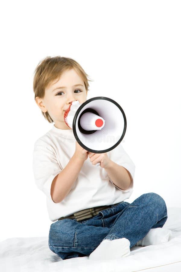δυνατός ομιλητής αγοριών στοκ φωτογραφίες