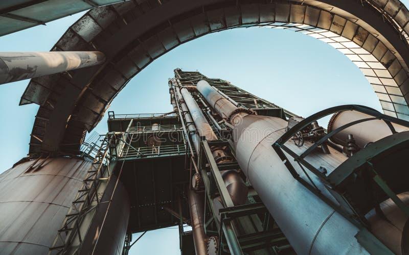 Δυνατότητα εργοστασίων καυσίμων, ευρεία γωνία στοκ εικόνα