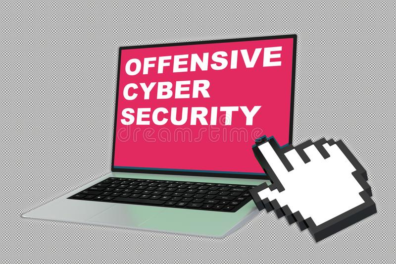 Δυσάρεστη έννοια ασφάλειας Cyber απεικόνιση αποθεμάτων
