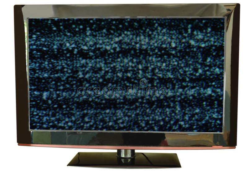 Δυσλειτουργία στην τηλεοπτική οθόνη στο άσπρο υπόβαθρο στοκ φωτογραφίες