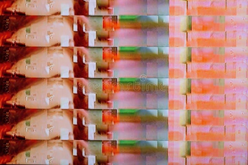 Δυσλειτουργίες και παρέμβαση στην ψηφιακή TV στοκ φωτογραφία με δικαίωμα ελεύθερης χρήσης