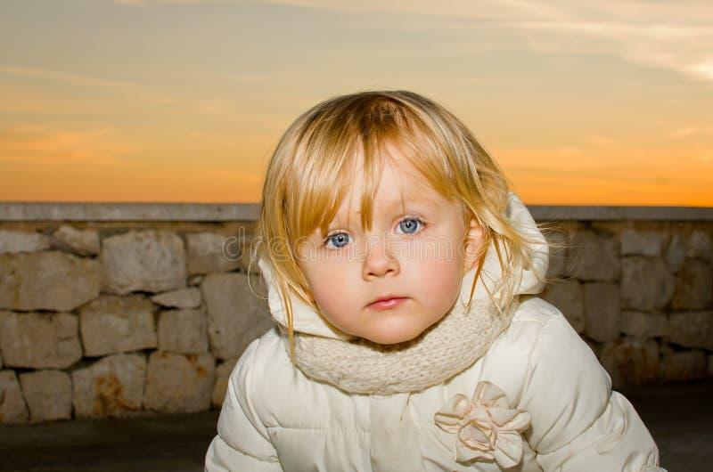 Δυστυχισμένο μόνο παιδί στοκ εικόνα με δικαίωμα ελεύθερης χρήσης