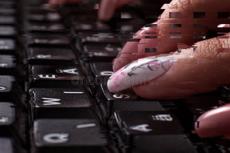 Δυσλειτουργία πληκτρολογίων στοκ φωτογραφία
