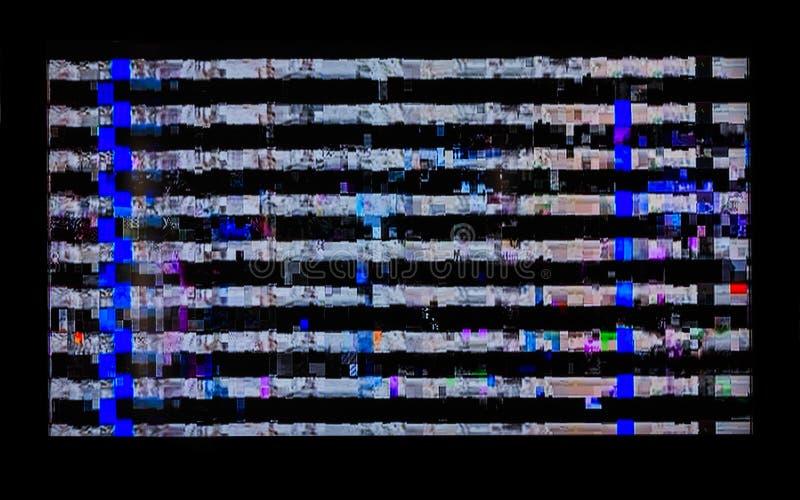 Δυσλειτουργίες, διαστρεβλώσεις, λωρίδες στη TV LCD στοκ φωτογραφίες