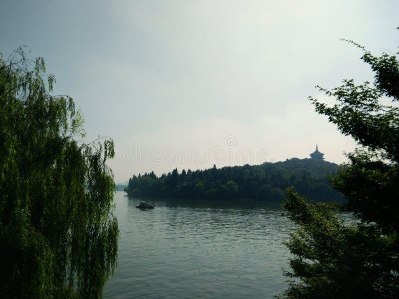 Δυτική λίμνη Hangzhou στοκ εικόνες με δικαίωμα ελεύθερης χρήσης