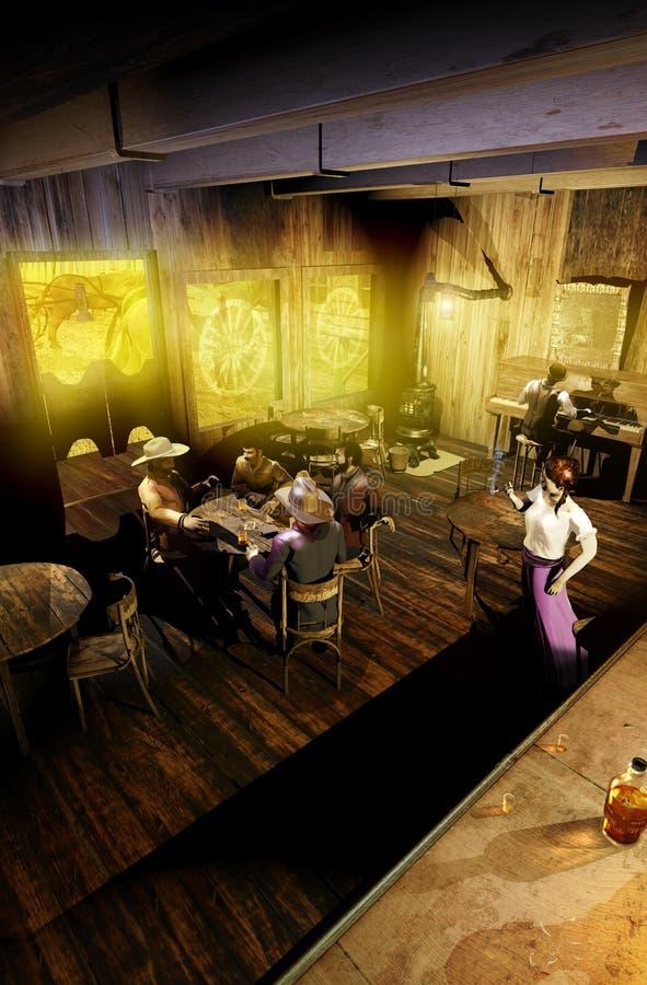 Δυτική αίθουσα στο φως της ημέρας απεικόνιση αποθεμάτων
