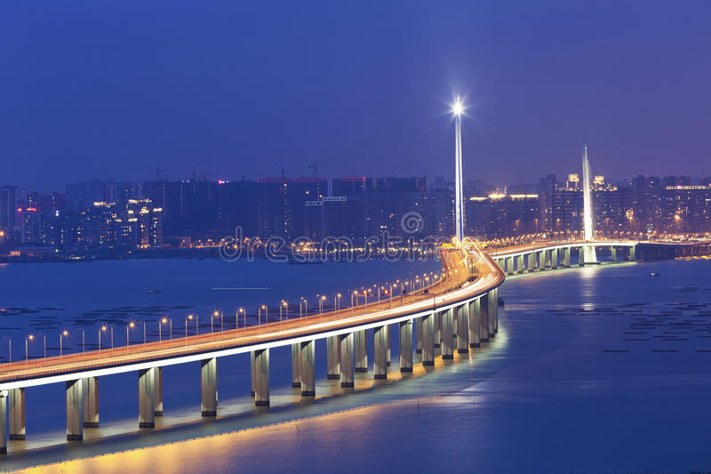Δυτική γέφυρα διαδρόμων του Χογκ Κογκ Shenzhen στοκ φωτογραφίες