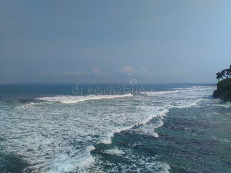 Δυτική Ιάβα hiu batu παραλιών στοκ εικόνες
