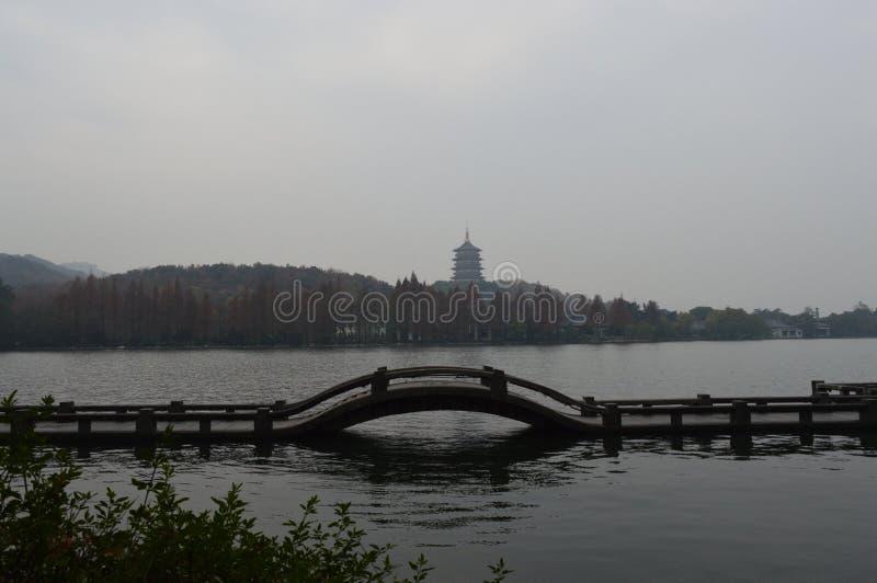Δυτική λίμνη Hangzhou στοκ φωτογραφίες με δικαίωμα ελεύθερης χρήσης