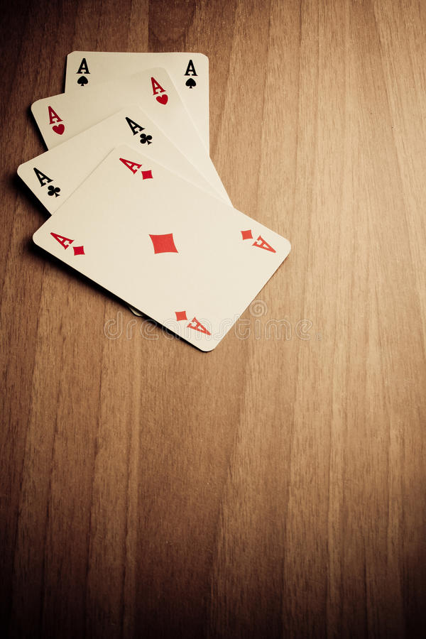 δυτική νίκη πόκερ στοκ φωτογραφία
