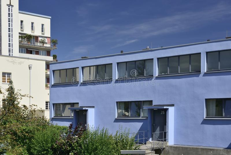 Δυτική πλευρά σπιτιών Stam Mart, Weissenhof, Στουτγάρδη στοκ εικόνες