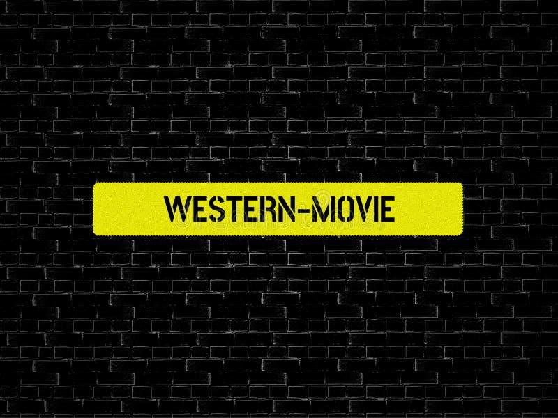 Δυτικός-ΚΙΝΗΜΑΤΟΓΡΑΦΟΣ - εικόνα με τις λέξεις που συνδέονται με τον ΚΙΝΗΜΑΤΟΓΡΑΦΟ θέματος, λέξη, εικόνα, απεικόνιση απεικόνιση αποθεμάτων