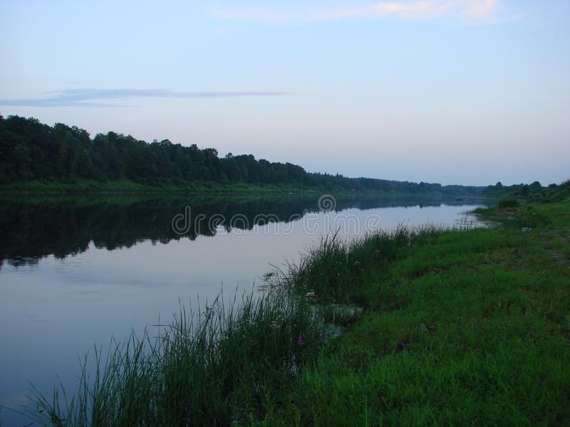 Δυτικός ποταμός Dvina στη Λευκορωσία στοκ εικόνες με δικαίωμα ελεύθερης χρήσης