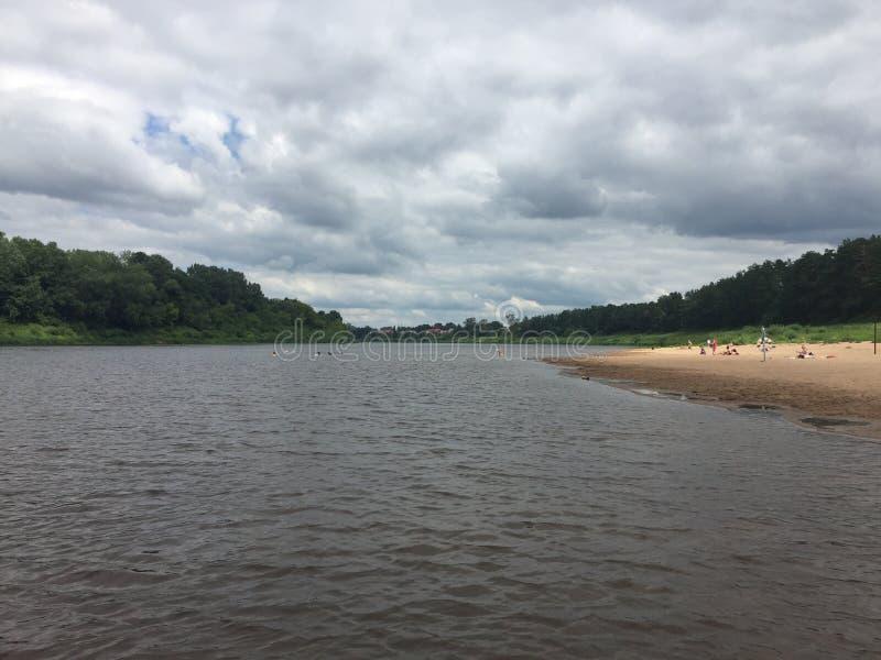 Δυτικός ποταμός Dvina στη Λευκορωσία στοκ εικόνα